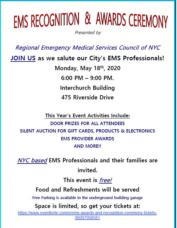 EMS Week Recognition & Awards Ceremony