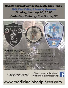 Code One Inc - Tactical Combat Casualty Care - 8 Hour - 01/26 - 8am - 4pm @ Code One Inc