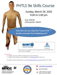 Prehospital Trauma Life Support class @ BMCC Paramedic Program