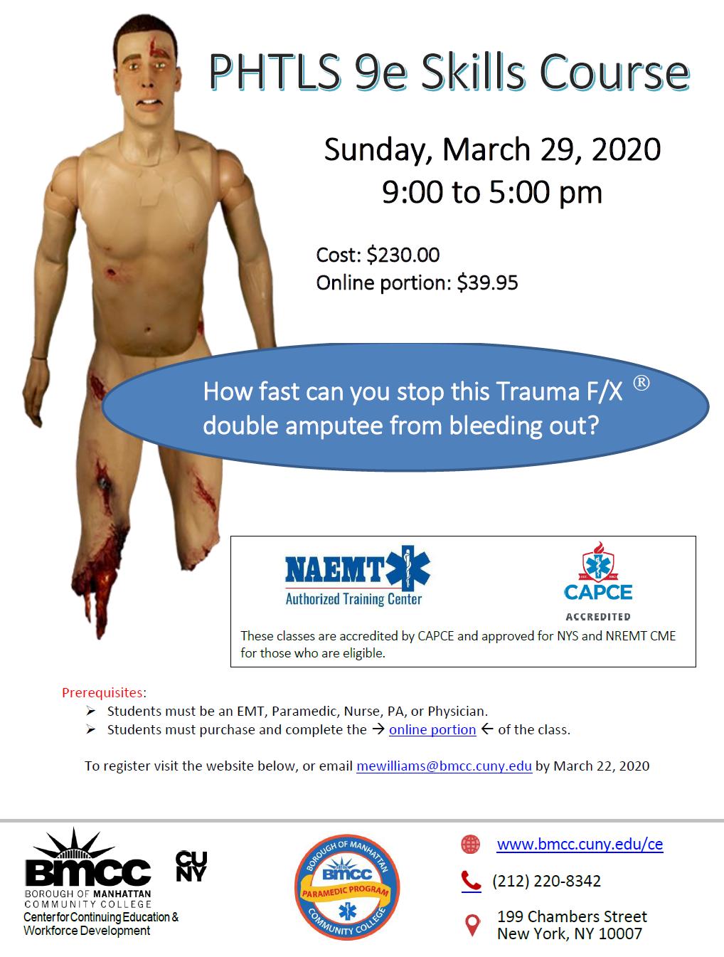 Prehospital Trauma Life Support class